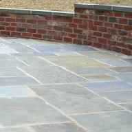 cut bluestone patio