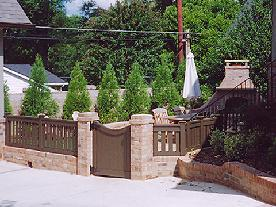 matching brick gate columns