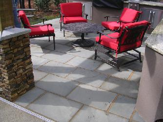 cut bluestone patio floor