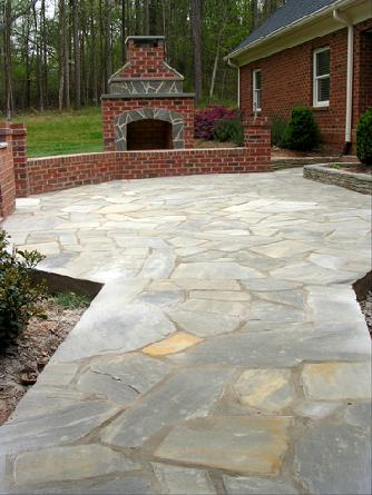 "irregular ""crab orchard"" flagstone"