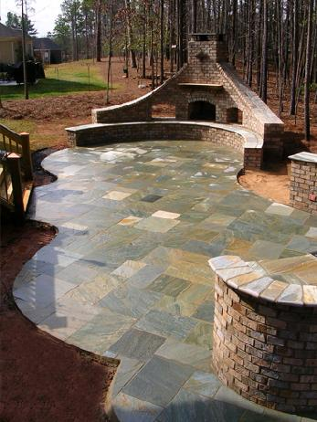 asian bluestone patio