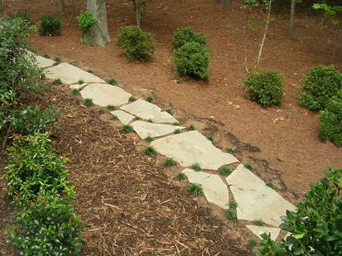 Stepping stone walkway - Stepping stones for walkways ...